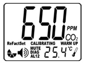 Wall Mount CO2 Temperature Monitor & Controller AMT75